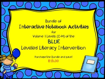 Bundle of Vol. 1 Blue Interactive Notebook Leveled Literac