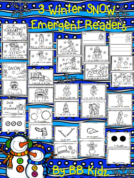 Winter Snow Emergent Readers {Snowman, Snow Day, Snow} Bui