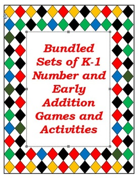 Bundle of my top three  K-1 math products: Number Represen