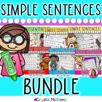Bundle 1! Simple Predictable Sentences for Beginning Readers