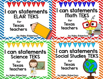 **Bundle**All 4 subjects TEKS posters!! (3rd grade)- Chevr