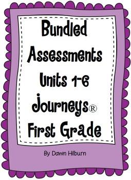 Bundled Assessments Units 1-6 Journeys® First Grade