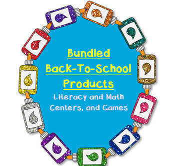 Bundled Back-To-School: Literacy and Math Centers, Games,