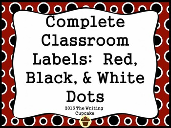 Bundled Classroom Labels: 175+ ready to print labels (blac