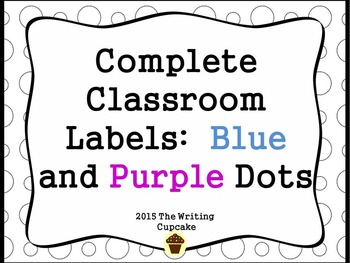 Bundled Classroom Labels: 175+ ready to print labels  (blu