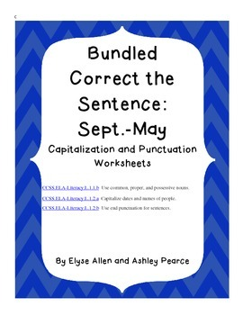Bundled Correct the Sentence: Sept.-May Capitalization and