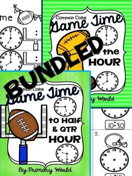 Super Bowl Time  Telling Time Hour, Half Hour, Quarter and