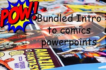 Bundled Intro to comics powerpoints
