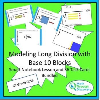 Modeling Long Division with Base 10 Blocks Bundle