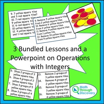 4 Bundled Lessons on Operations with Integers