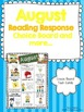 Bundled Monthly Reading Response Choice Boards