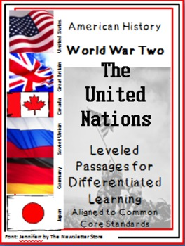 Leveled Reading Passages for Differentiated Learning: WWII