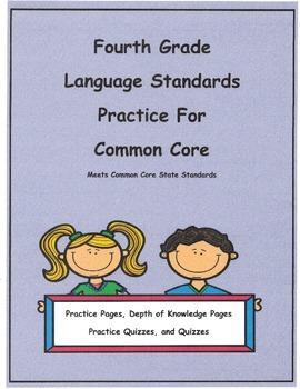 Bundled Set 4th Grade Language L4.2c - L4.5c Pract. Pgs. a