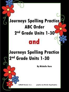 Bundled Spelling Practice Journeys Grade 2