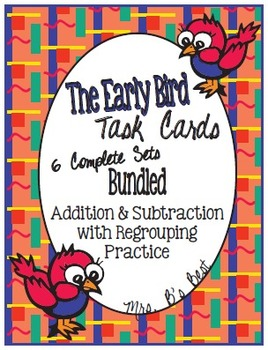 Bundled for Savings:  Early Bird Task Cards - Addition and