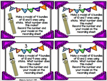Bundles of Ten Place Value Task Cards