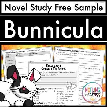 Bunnicula Novel Study Unit: FREE Sample