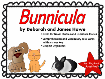 Bunnicula by James Howe Comprehension and Vocabulary Task Cards