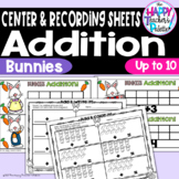 Bunnies Addition up to 10 ~Perfect for Mini-Erasers!~