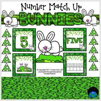 Bunnies Number Match Up