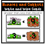 Bunnies and Carrots~ Write and Wipe Cards
