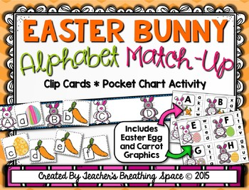 Bunny ABC Letter Matching --- Spring Letter Matching Clip