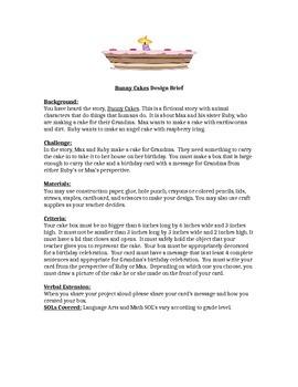 Bunny Cakes Children's Engineering Design Brief STREAM