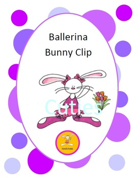 Bunny Clip Art - Ballerina in full color and black line
