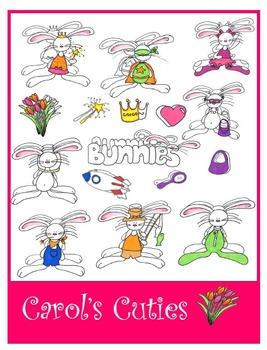 Bunny Clip Art -Dress Up Bunnies Collection