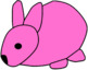 Bunny Clip Art (Rainbow)