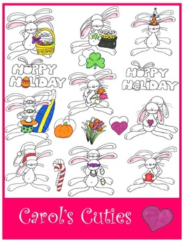 Bunny Clip Art - SeasonalCollection