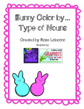Bunny Color by...Types of Nouns