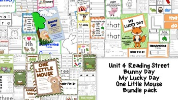Bunny Day, My Lucky Day, One Little Mouse Bundle - Reading