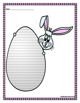 Bunny Egg Writing Paper