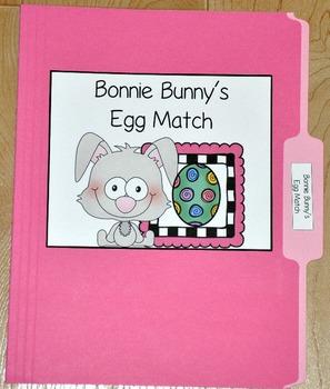 "Bunny File Folder Game--""Bonnie Bunny's Egg Match"""