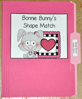 "Bunny File Folder Game--""Bonnie Bunny's Shapes Match"""