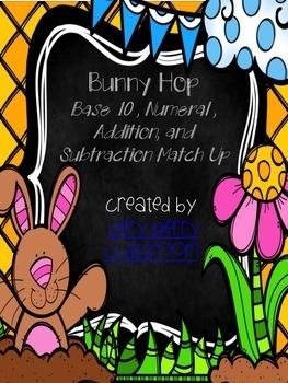 Bunny Hop Math Match Up