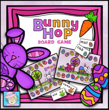 FREE!  Bunny Hop Reading Board Game (PreK-K)