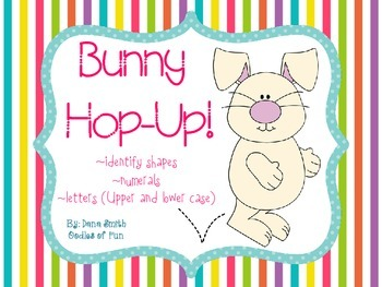 Bunny Hop-Up! (identifying shapes, numerals and letters)