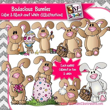 Bunny Rabbit Spring clip art