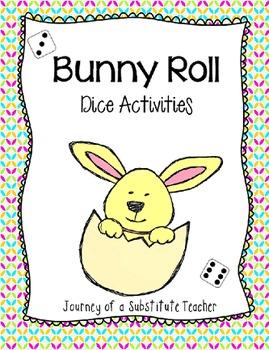 Bunny Roll : Spring Dice Math Activities {Freebie}