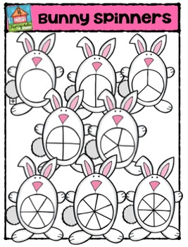 Bunny Spinners  {P4 Clips Trioriginals Digital Clip Art}