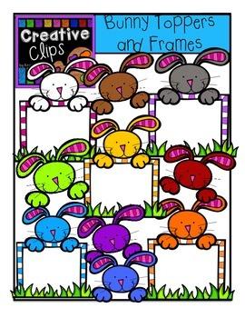 Bunny Toppers and Frames {Creative Clips Digital Clipart}