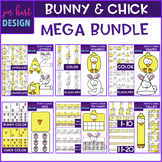 Bunny and Chick Clip Art -Mega BUNDLE {jen hart Clip Art}