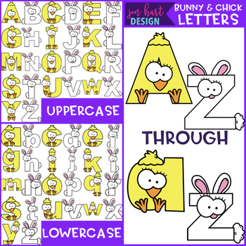 Bunny and Chick Letters Clip Art  {jen hart Clip Art)