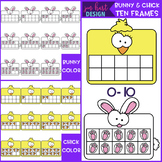 Bunny and Chick Math Ten Frames Clip Art {jen hart Clip Art}
