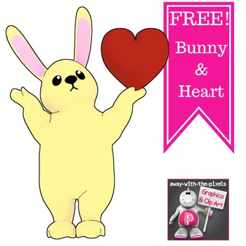 Bunny and Heart Freebie for Valentine's Day