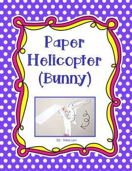 """""""Bunny-copter"""" - Easter Fun Paper Helicopter Activity"""