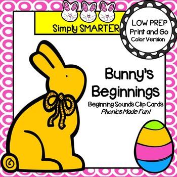 Bunny's Beginnings:  LOW PREP Easter Themed Beginning Soun