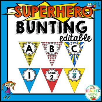 Super Hero Bunting